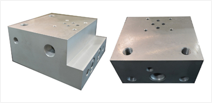 Block for SV1 solenoid valve and directional valve