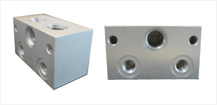 block for 2 double locking and sv1 solenoid valve 1