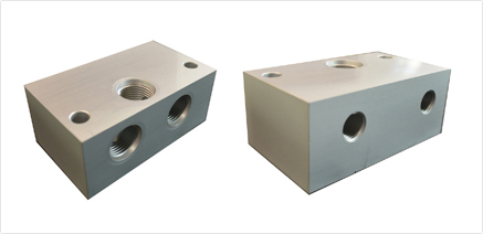 block for 2 double locking and sv1 solenoid valve 2