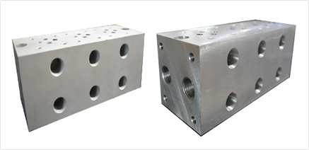 block for directional valve 4
